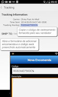Screenshot of RaBox - Rastrear Correios