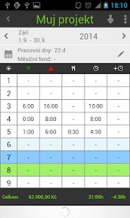 Working Timer - pracovní doba - náhled
