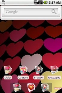 Hearts [SQTheme] for ADW - screenshot thumbnail