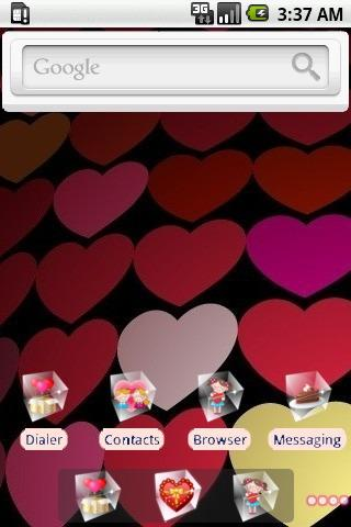 Hearts [SQTheme] for ADW - screenshot