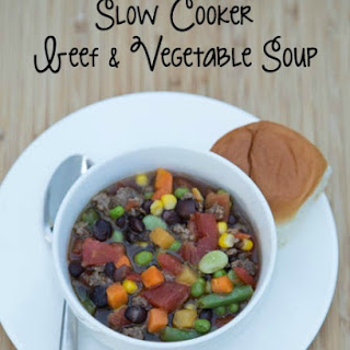 Slow Cooker Beef & Vegetable Soup.