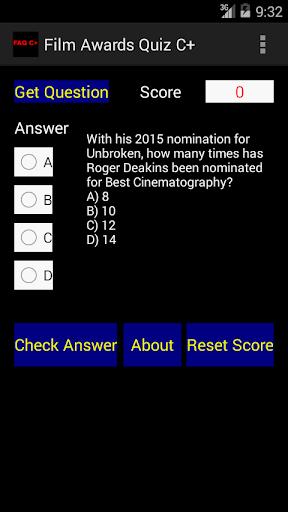 Film Awards Quiz C+