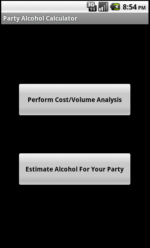 Alcohol Party Calculator- screenshot