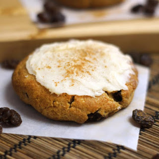 Frosted Cinnamon Raisin Biscuits (grain-free)