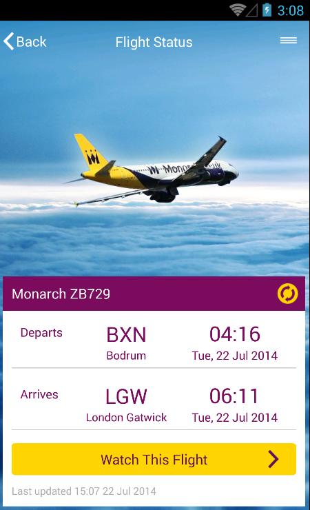 Monarch Airlines - screenshot