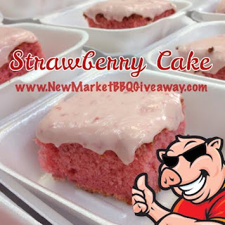 Strawberry Cake with Strawberry Cream Cheese Icing by New Market BBQ