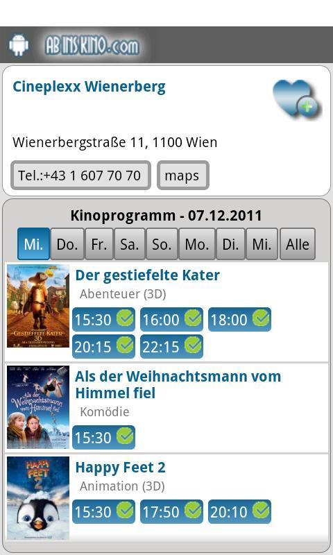 Ab Ins Kino - Kinoprogramm- screenshot