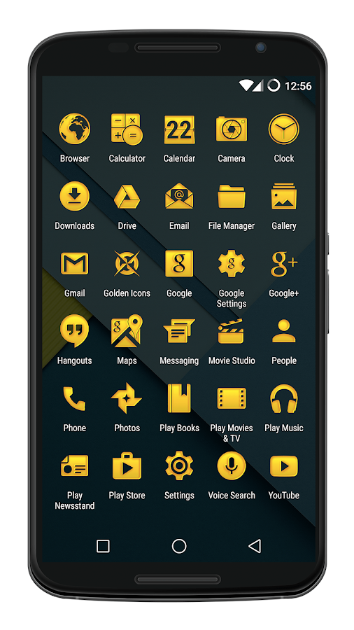 Golden Icons - Icon Pack- screenshot