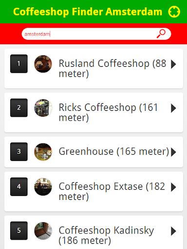 Coffeeshop Finder Amsterdam