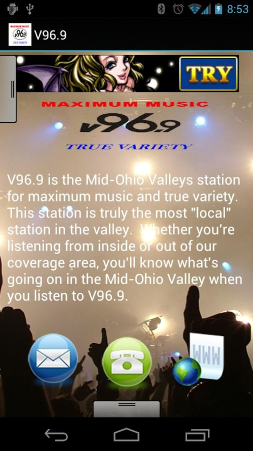 V96.9 - screenshot