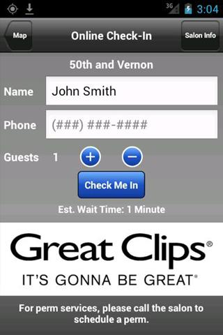 Great Clips Online Check-in - screenshot