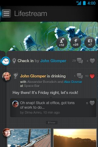 Glomper events - screenshot