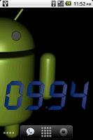 Screenshot of Metric Clock Widget