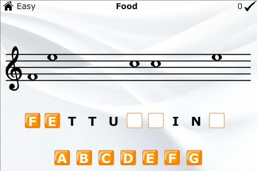 Learn to Read Music Word Game