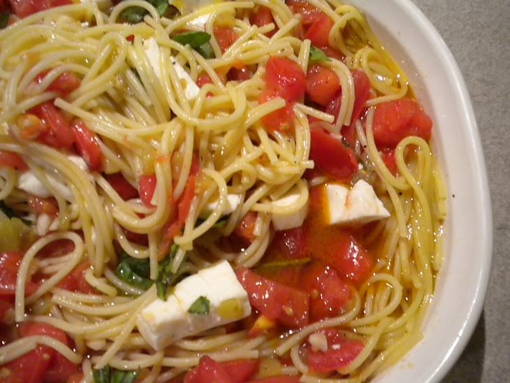 Warm and Spicy Pasta Caprese Recipe