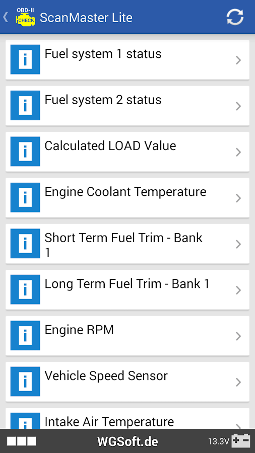 ScanMaster for ELM327 OBD-2 ScanTool- screenshot