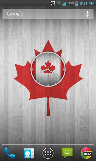 Canadian Wooden Flag Clock