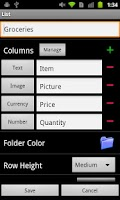 Screenshot of List Master for Android