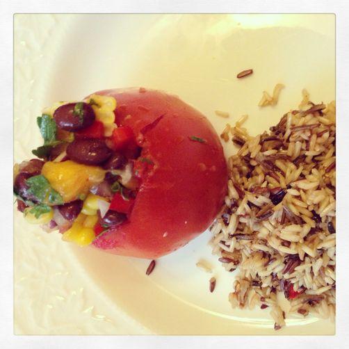 Black Bean Mango Salsa Stuffed Tomatoes Recipe