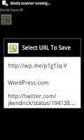 Screenshot of Droid Save IP
