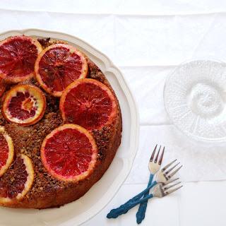 Blood Orange Pistachio Polenta Cake