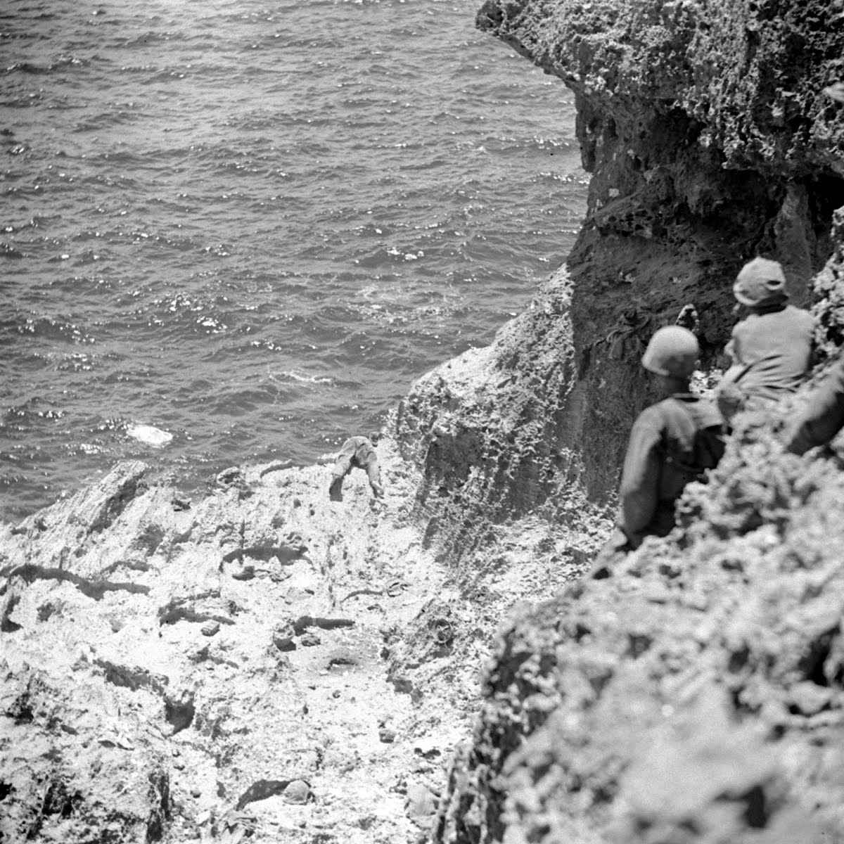 Jap Snipers On Guam