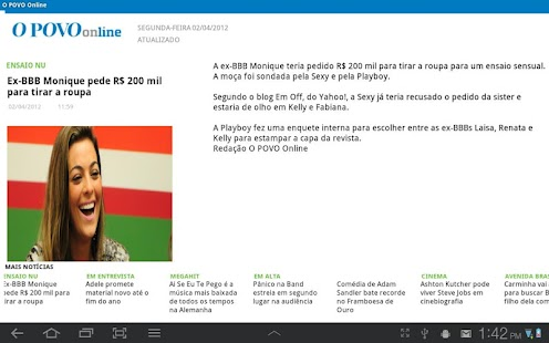 O POVO Online - Tablet - screenshot thumbnail