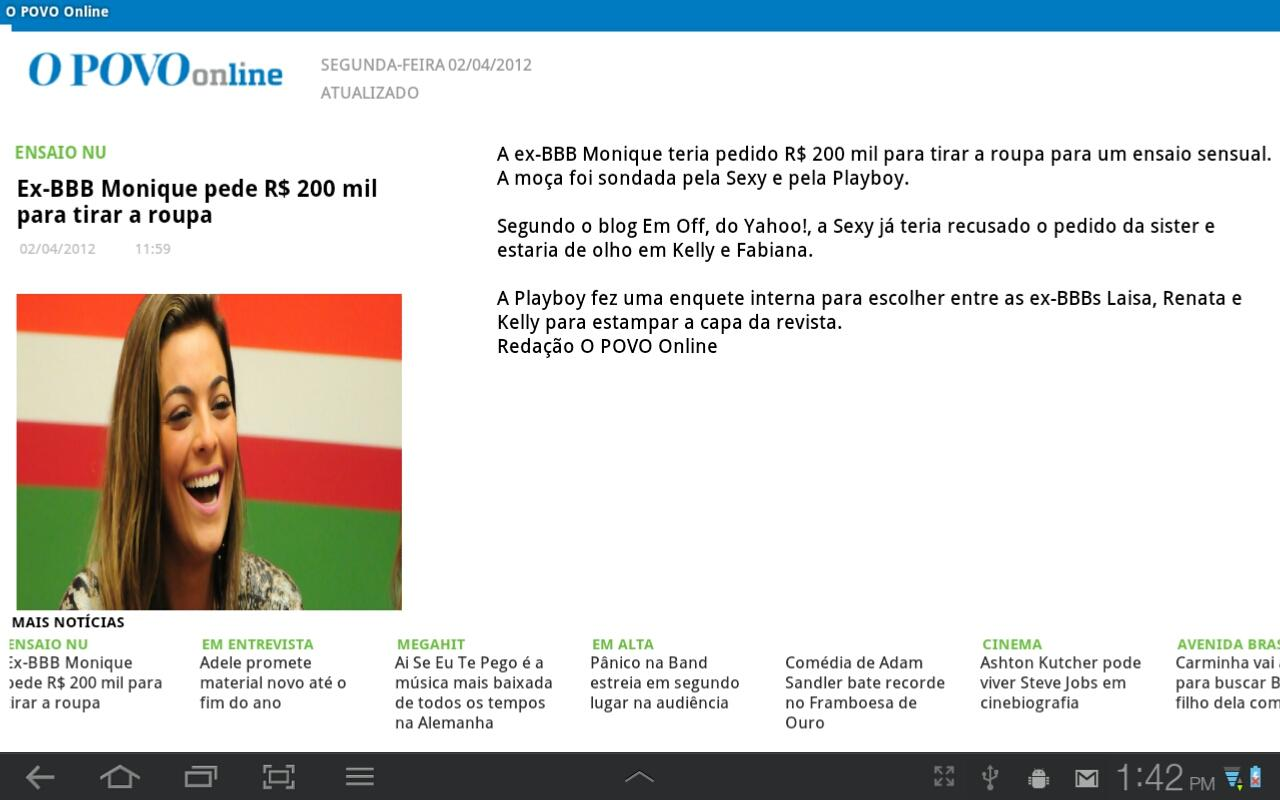 O POVO Online - Tablet - screenshot