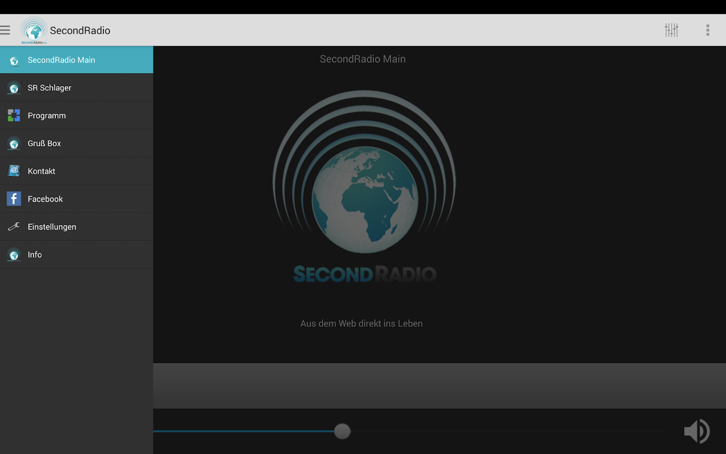 SecondRadio- screenshot