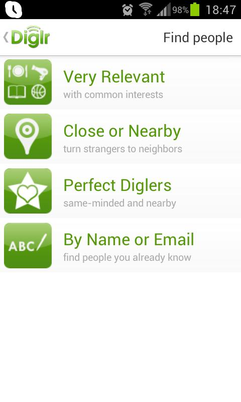 Diglr, Nearby Interests & Chat - screenshot