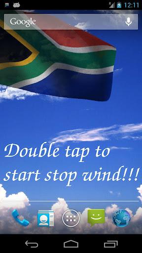 3D South Africa Flag LWP +