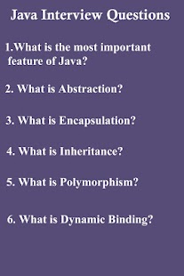 Lastest 45 Java Interview Questions APK for Android