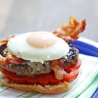 Bacon, Egg & Gruyere Brat Burgers.