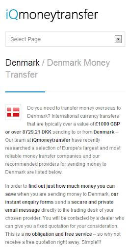 Denmark Transfer DKK