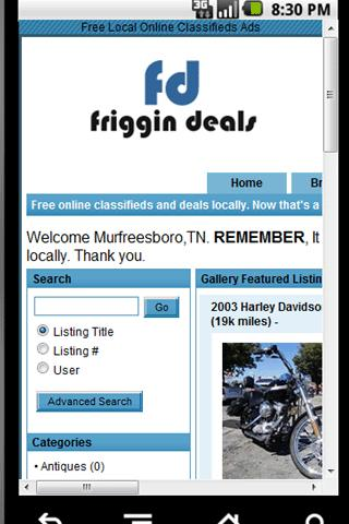 FrigginDeals.Com - screenshot