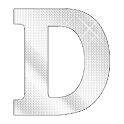 Diamond letter D sticker logo