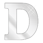 Diamond letter D sticker
