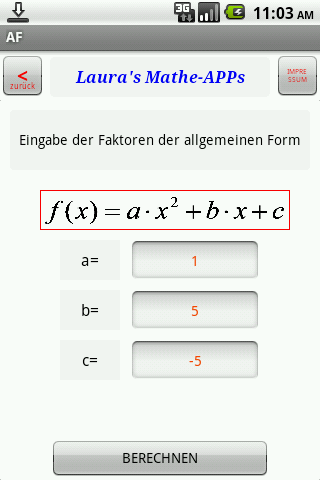 Quadratische Gleichung