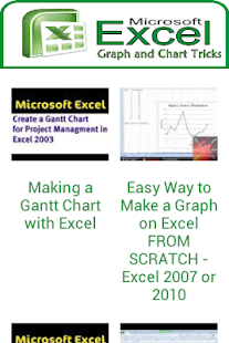 How to make a chart in excel