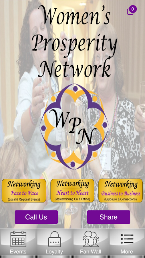 Women's Prosperity Network- screenshot