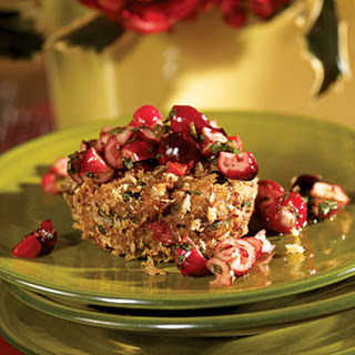 Black-eyed Pea Cakes with Cranberry-Red Pepper Salsa