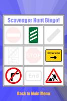 Screenshot of Scavenger Hunt Bingo!