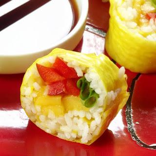 Mango Red Pepper Sushi.