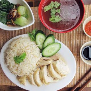 Hainanese Chicken Rice Set.