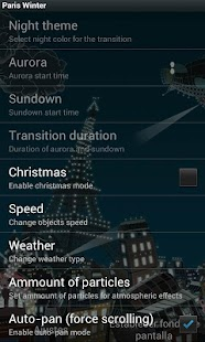 Paris winter LWP- screenshot thumbnail