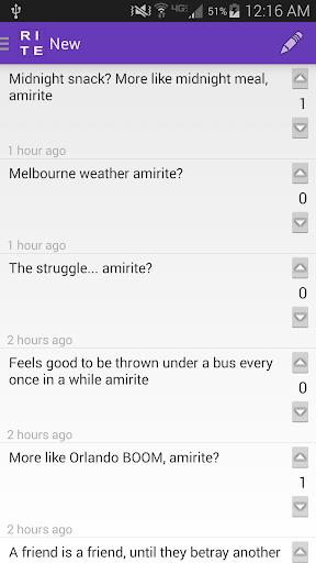 Amirite Post Comment Vote