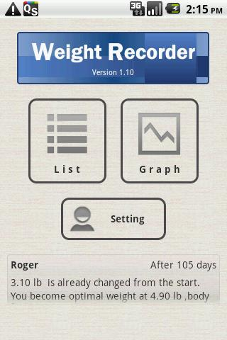 Weight Recorder