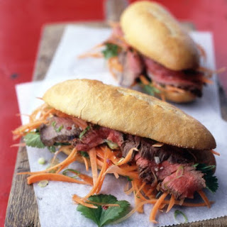 Vietnamese Steak Sandwiches.