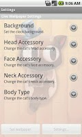 Screenshot of TicToc Cat Clock Demo