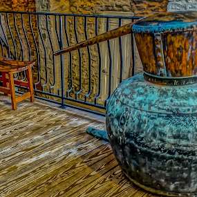 Retired Sourmash Still by Stephanie Turner - Artistic Objects Antiques ( abstract, abstract curves, technology, artistic, woodford reserve, architecture, artistic objects, antique )